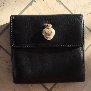 Juicy Couture Black Leather Bi-Fold Wallet